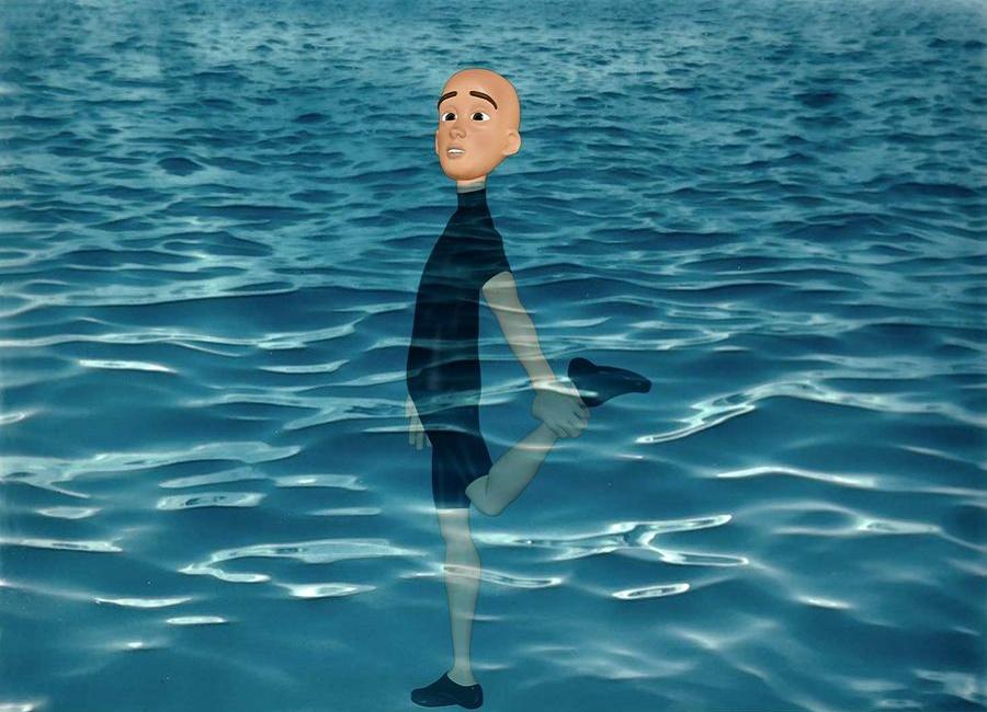 تمرین نفس داخل آب