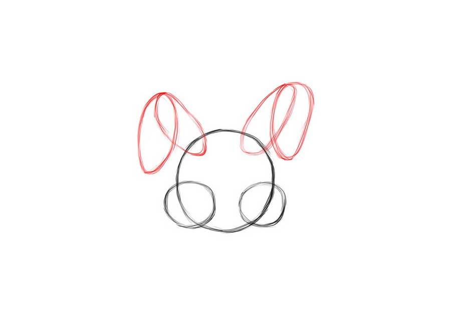 نقاشی خرگوش زیبا