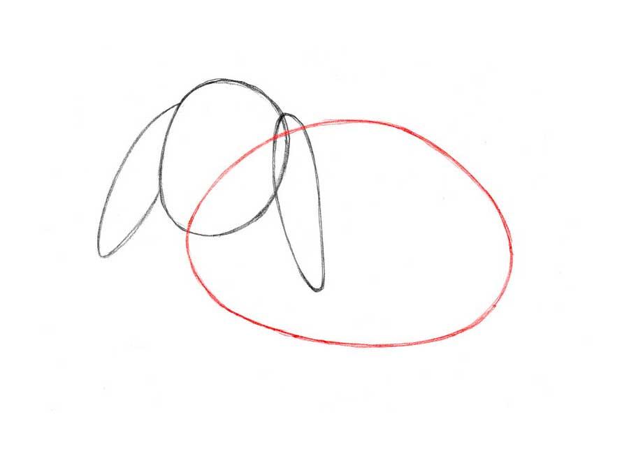 نقاشی خرگوش کودکانه