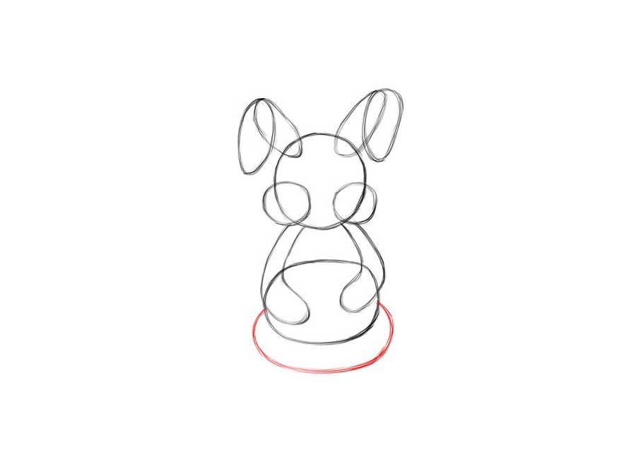 کشیدن ساده خرگوش