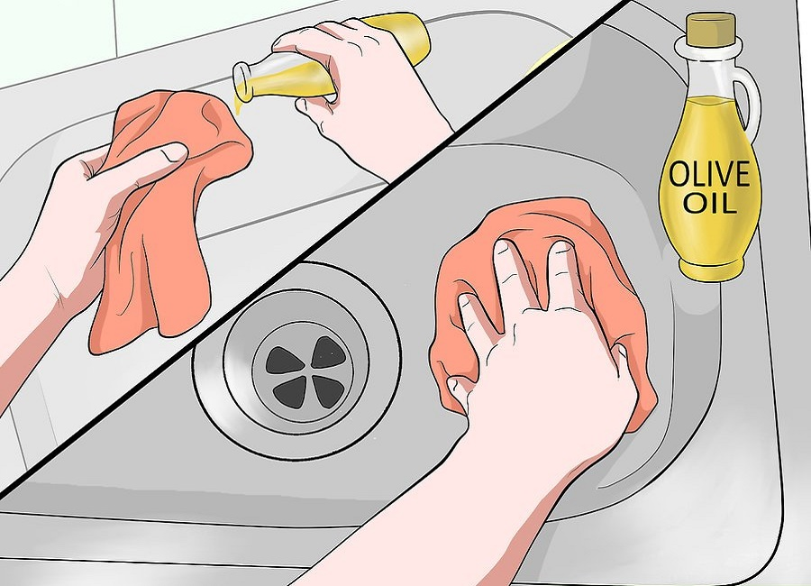 براق کردن با روغن زیتون
