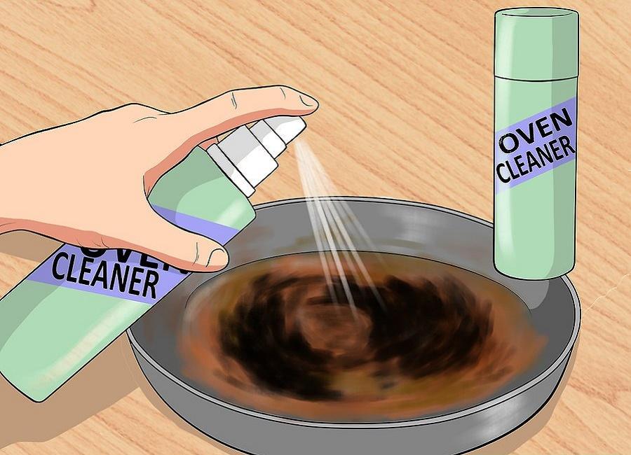 تمیز کردن ظرف سوخته با گاز پاک کن