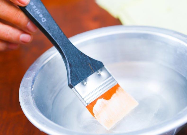 تمیز کردن قلم مو رنگ روغن