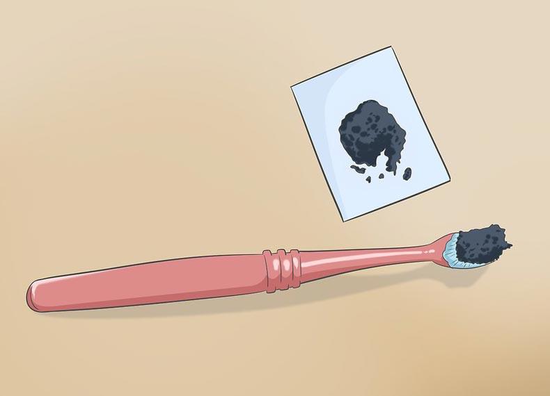 سفید کردن دندان با ذغال