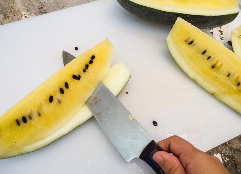 قاچ کردن هندوانه