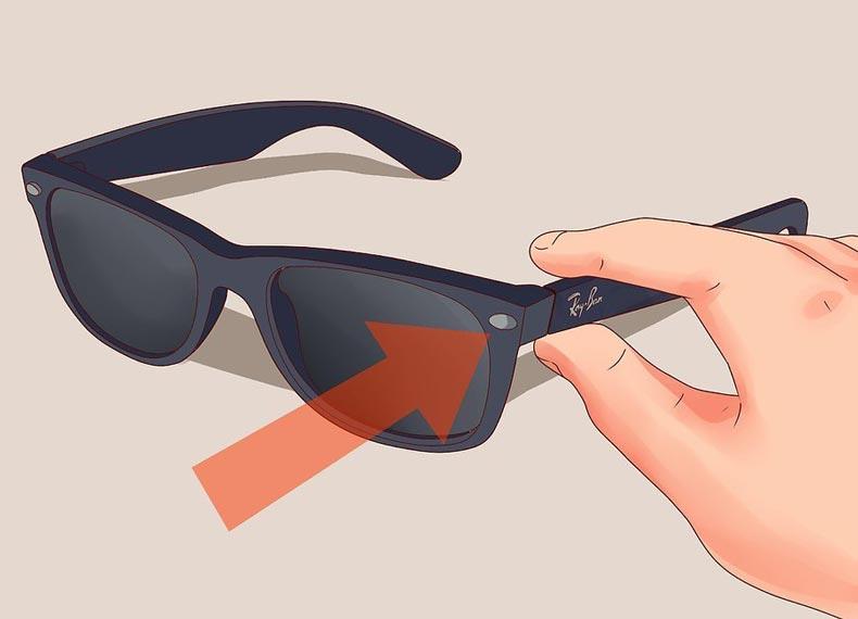 نحوه تشخیص عینک ریبن قلابی