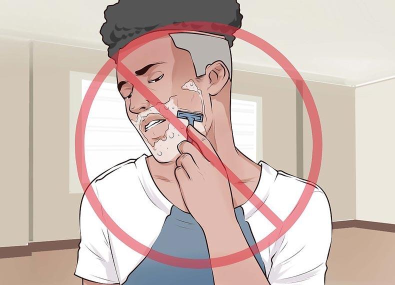کلفت کردن ریش با تیغ