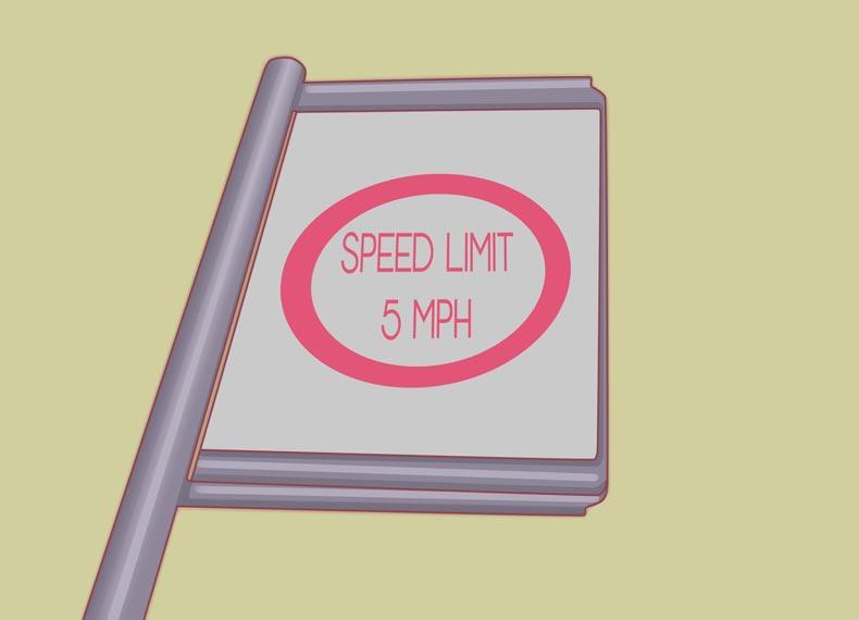 سرعت مجاز هنگام تعلیم رانندگی
