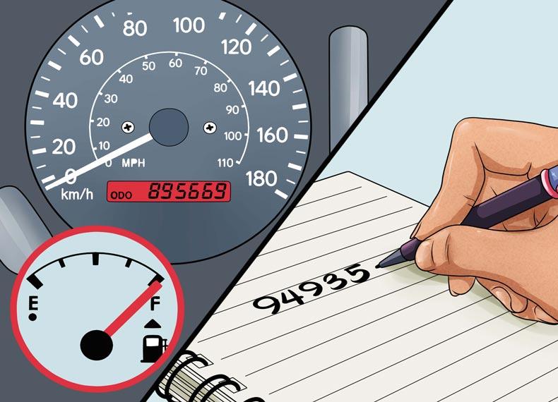 محاسبه مصرف سوخت پراید