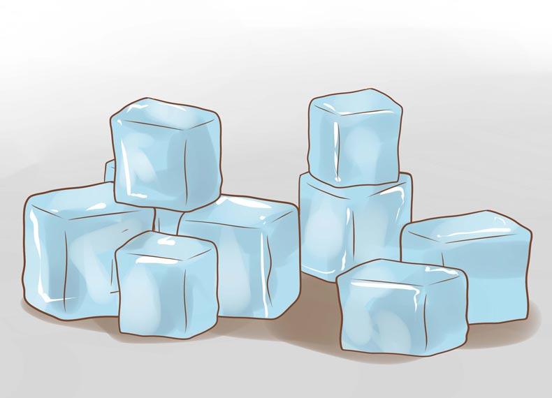 درمان کبودی با یخ