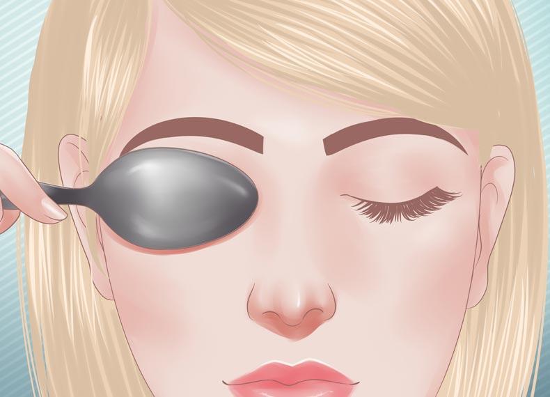 باد کردن پلک چشم