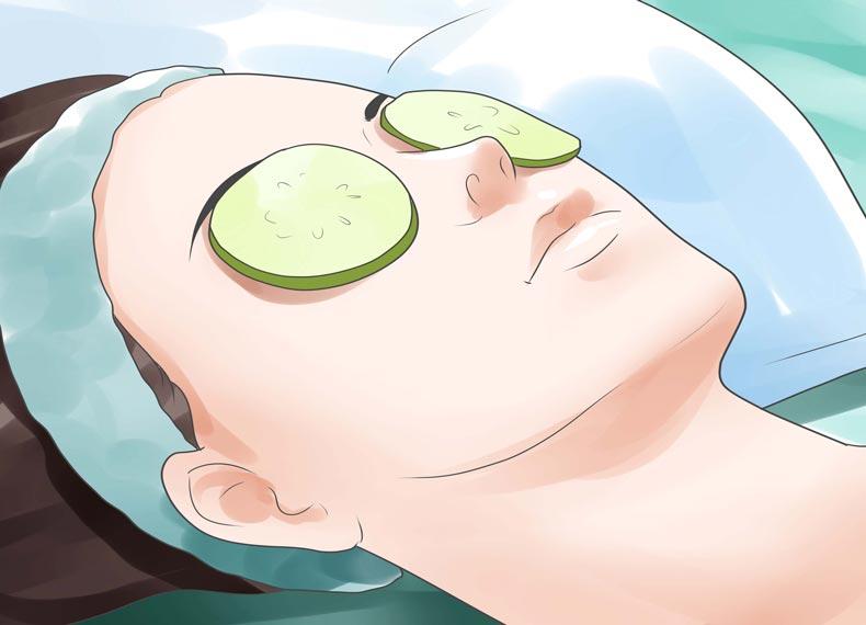 کاهش پف زیر چشم