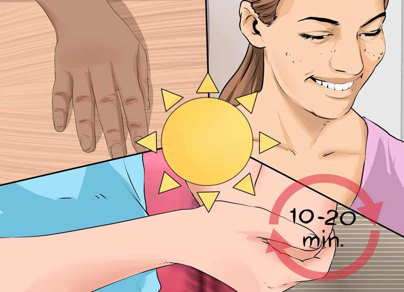 روش جذب ویتامین دی آفتاب