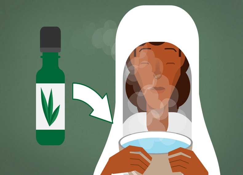 درمان سینوزیت با بخار آب