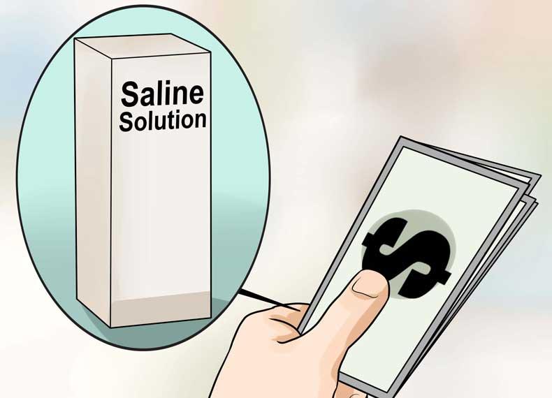 محلول نمکی شستشو