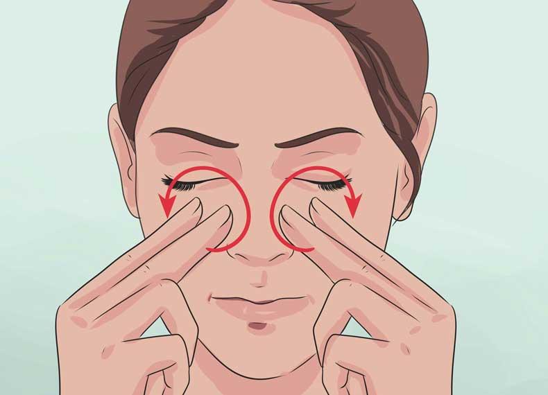 ماساژ درمان گرفتگی بینی