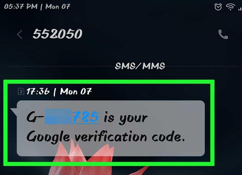کد جیمیل در موبایل