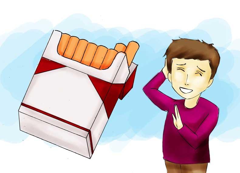 سیگار کشیدن و ریش در نیاوردن