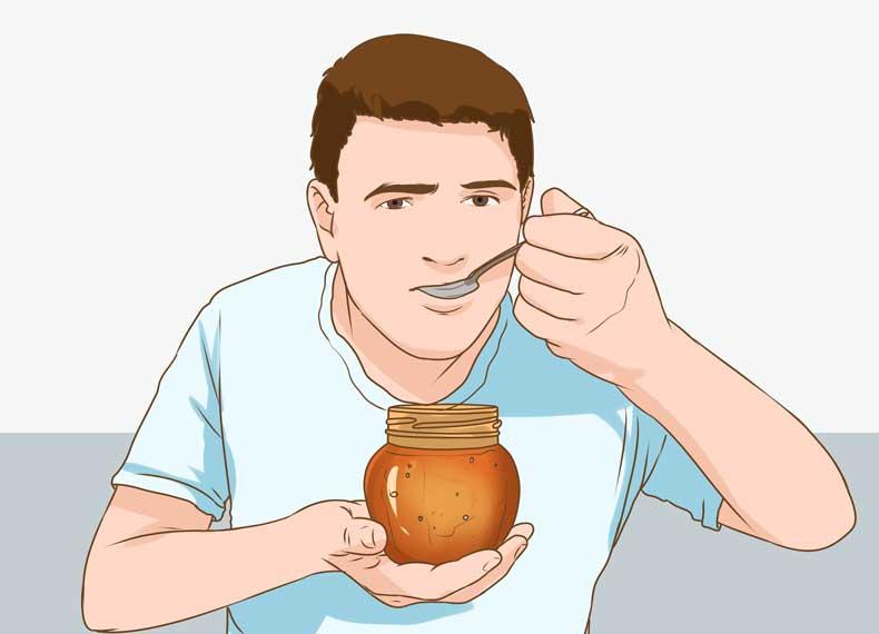 عسل برای زخم زبان