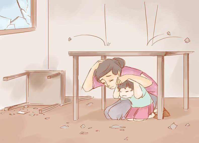 در هنگام زلزله چه کنیم
