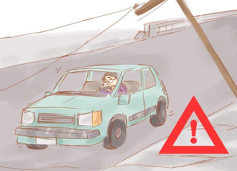 زلزله هنگام رانندگی