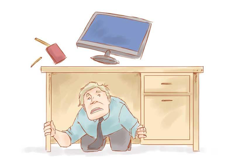 زلزله و زیر میز