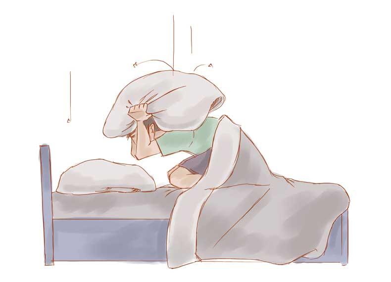 زلزله در هنگام خواب