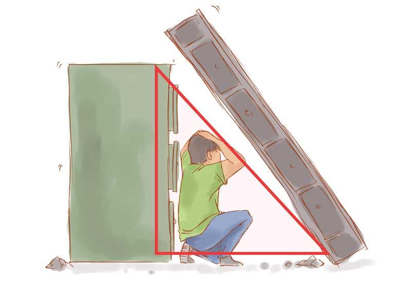 مثلث زندگی و زلزله