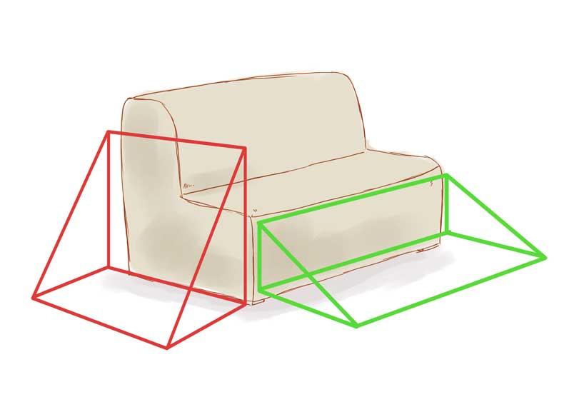 مثلث زندگی را در زلزله پیدا کنید