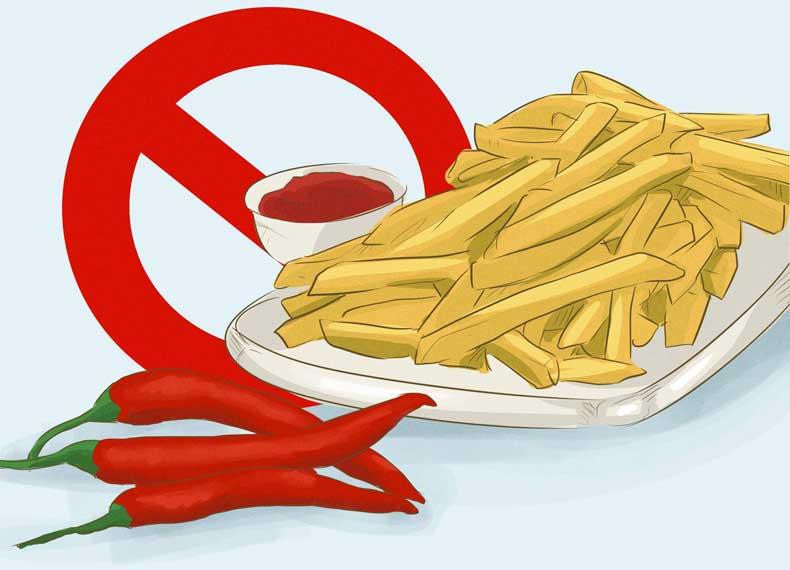 مواد غذایی مضر برای گاستریت