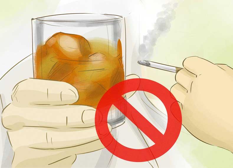 سیگار و الکل برای گاستریت مضر است