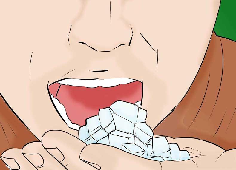 خوردن یخ آنفولانزای معده