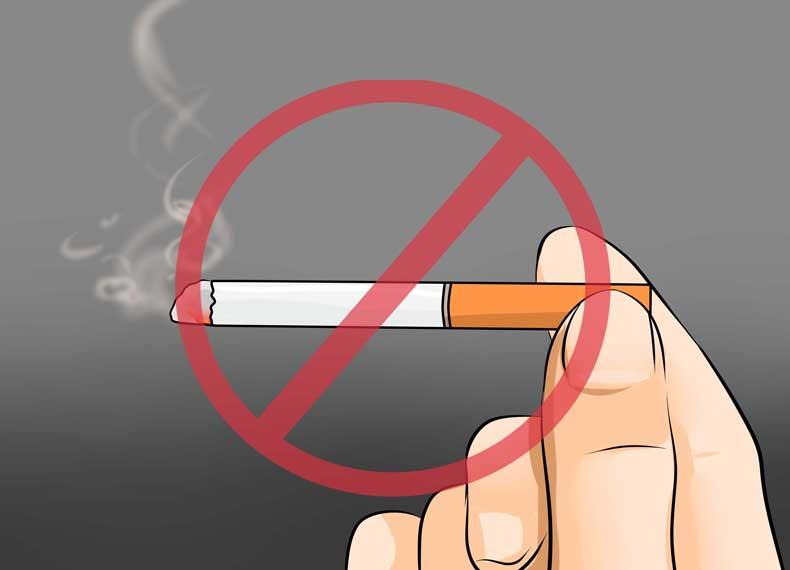 سیگار کشیدن علت سفیدی زبان