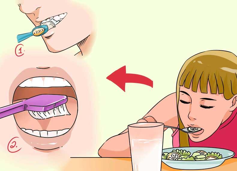بهداشت دهان و سفیدی زبان