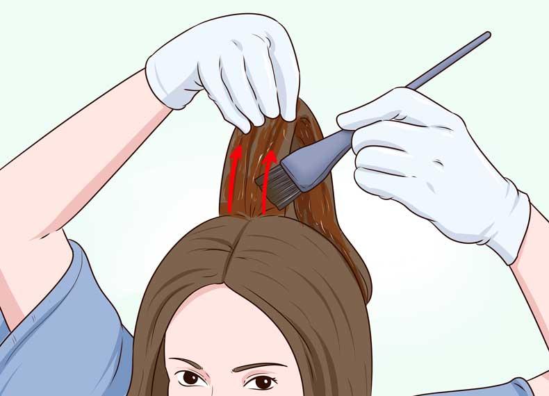 چگونه رنگ موی حنا بزنیم