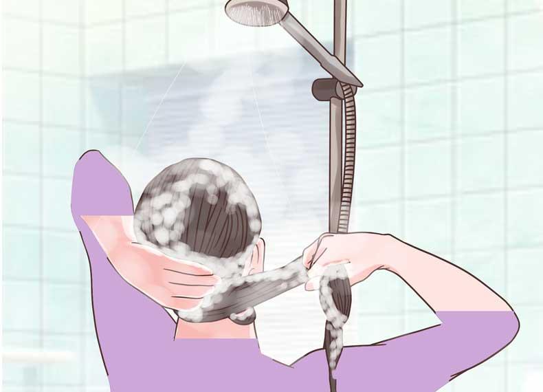 طرز استفاده از شامپو ضد شوره