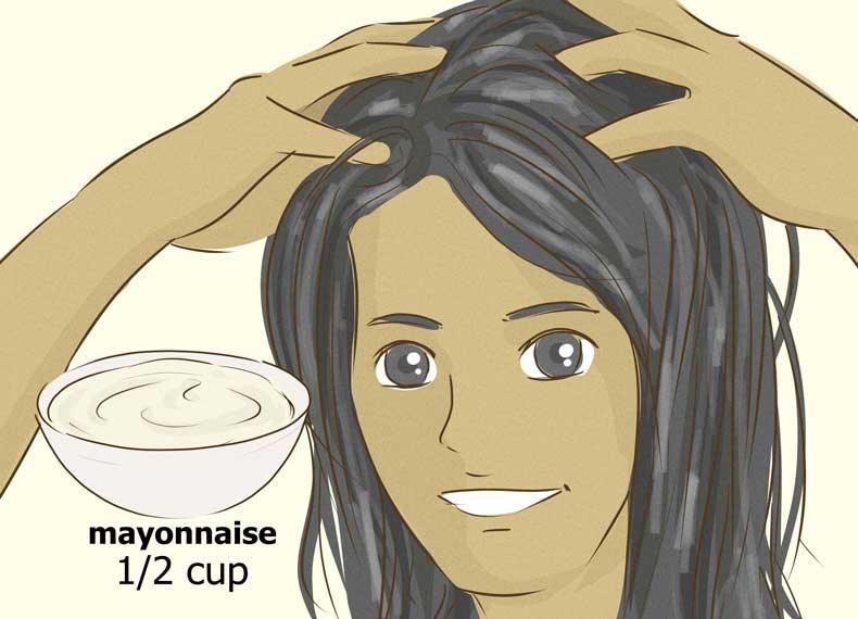 سس مایونز برای موهای خشک