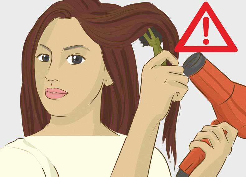 سشوار برای موهای خشک مضر است