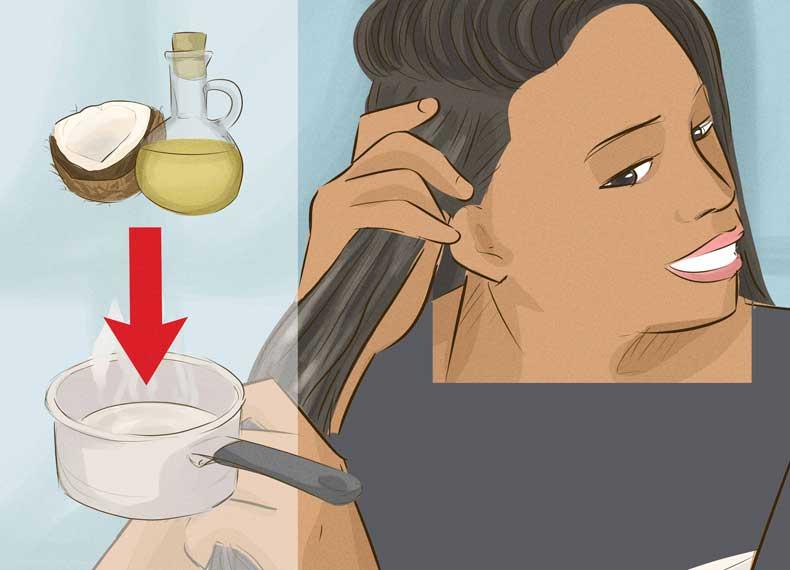 روغن زیتون برای موهای خشک