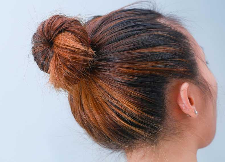 روش بستن موی چرب
