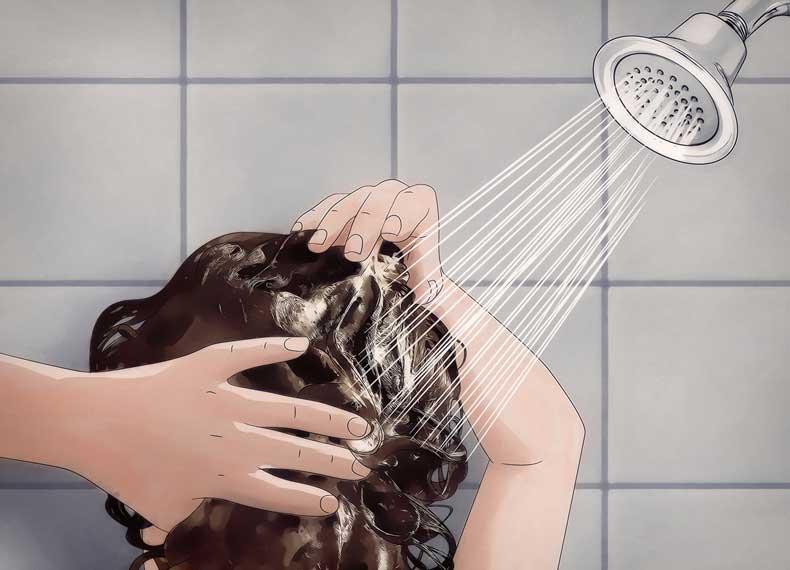 ماساژ سر در حمام