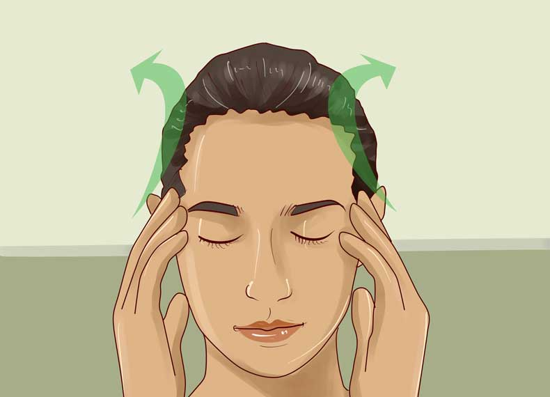 ماساژ سر برای سردرد