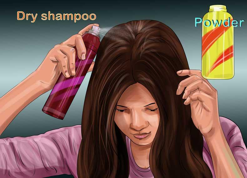 شامپو خشک برای موهای چرب