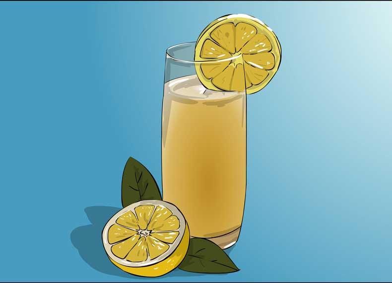 آب لیمو دفع کننده سنگ کلیه