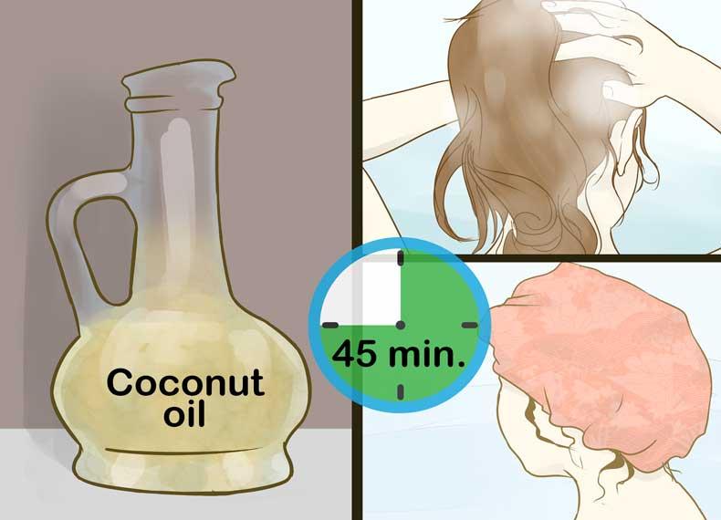 روغن نارگیل برای موی چرب
