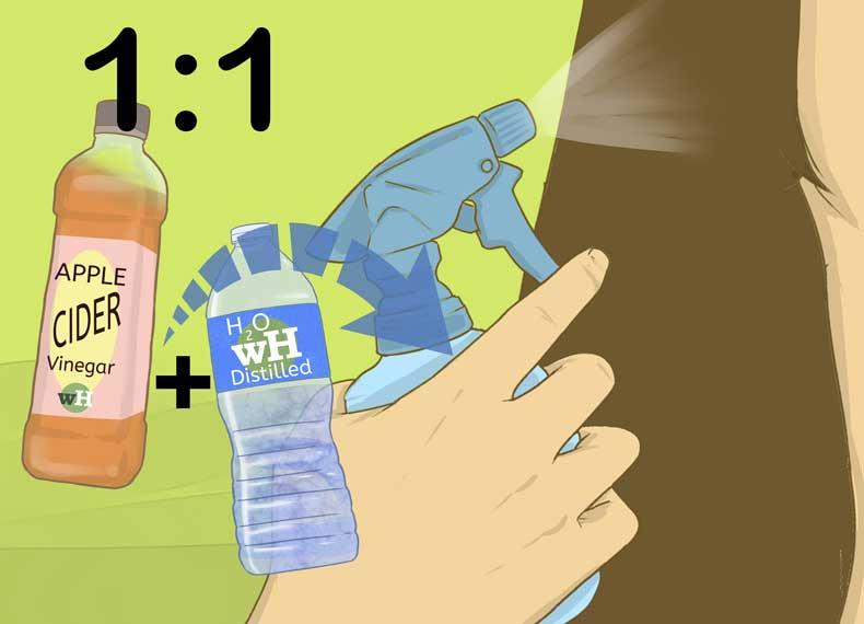 درمان خشکی مو با سرکه