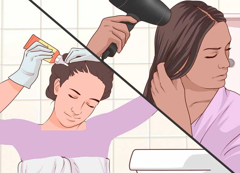 علت ریزش مو در خانم ها