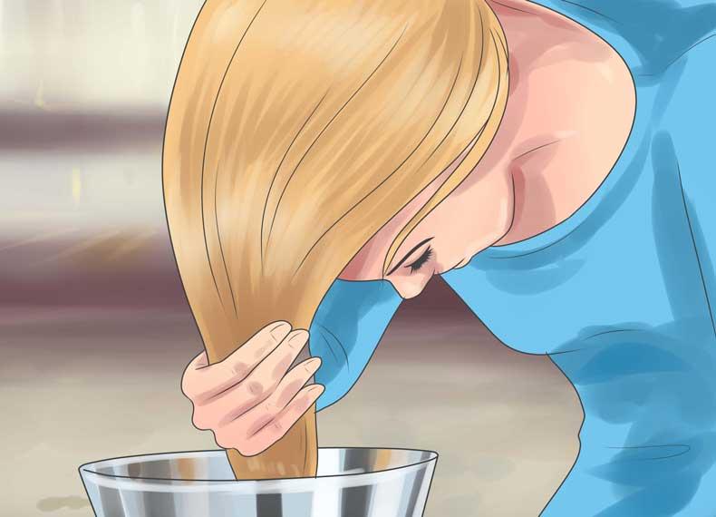 پاک کردن رنگ حنا