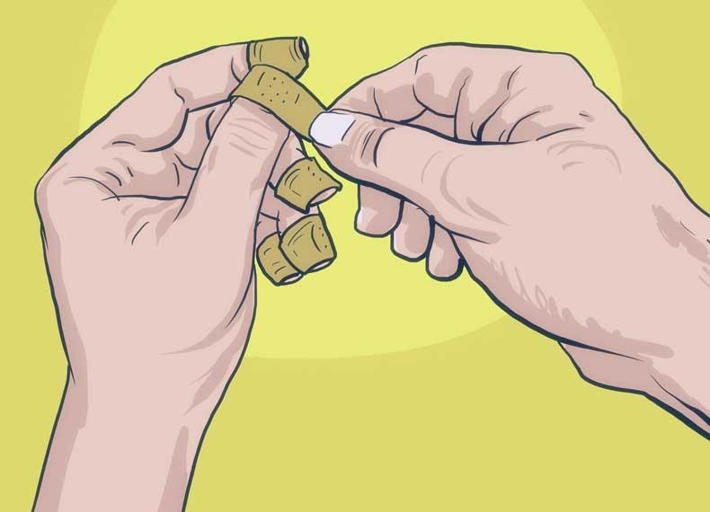 درمان ناخن خوردن با چسب زخم