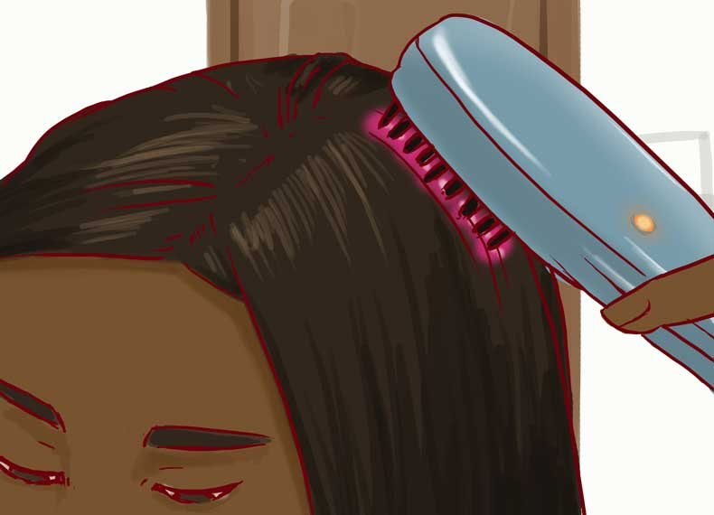 شانه لیزری برای ریزش مو زنان